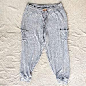 Athleta Cropped Cargo Gray Jogger Pants